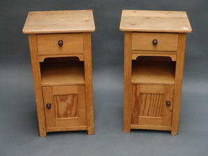 Pair of continental pine bedside cabinets