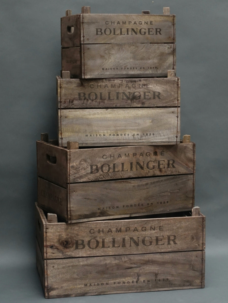 Rustic storage crates