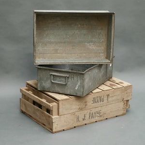 Galvanised steel French storage boxes