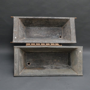 Hungarian galvanised mortar troughs