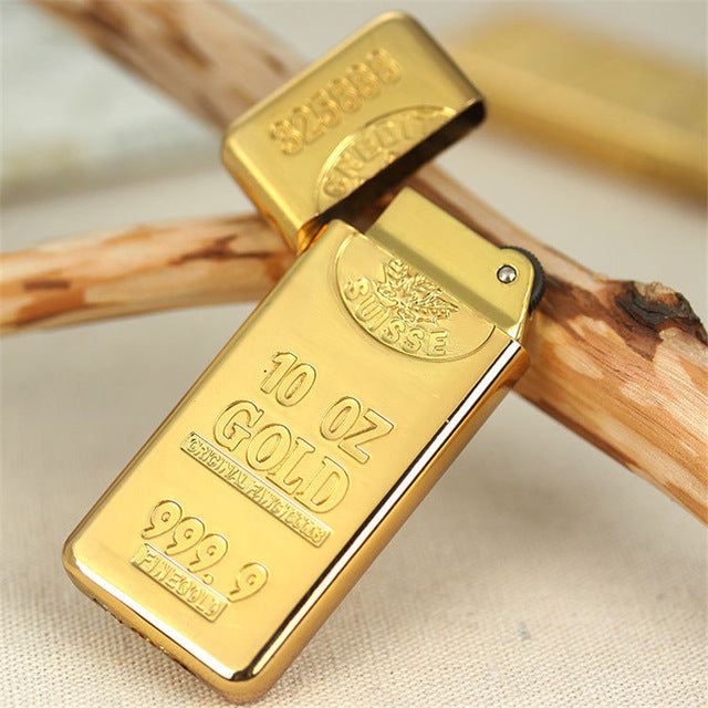 Luxury Compact Gold Bar Lighter