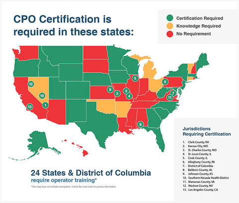 What states require cpo courses classes certification does my state require NSPF