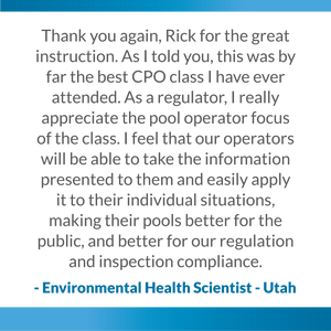 Testimonial review for the pool training academy the best certified pool operator course class seminar certification available