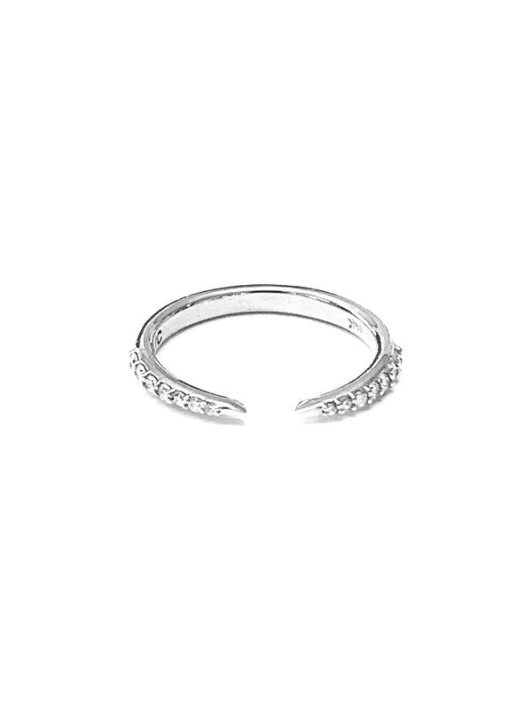 14K Diamond Claw Ring