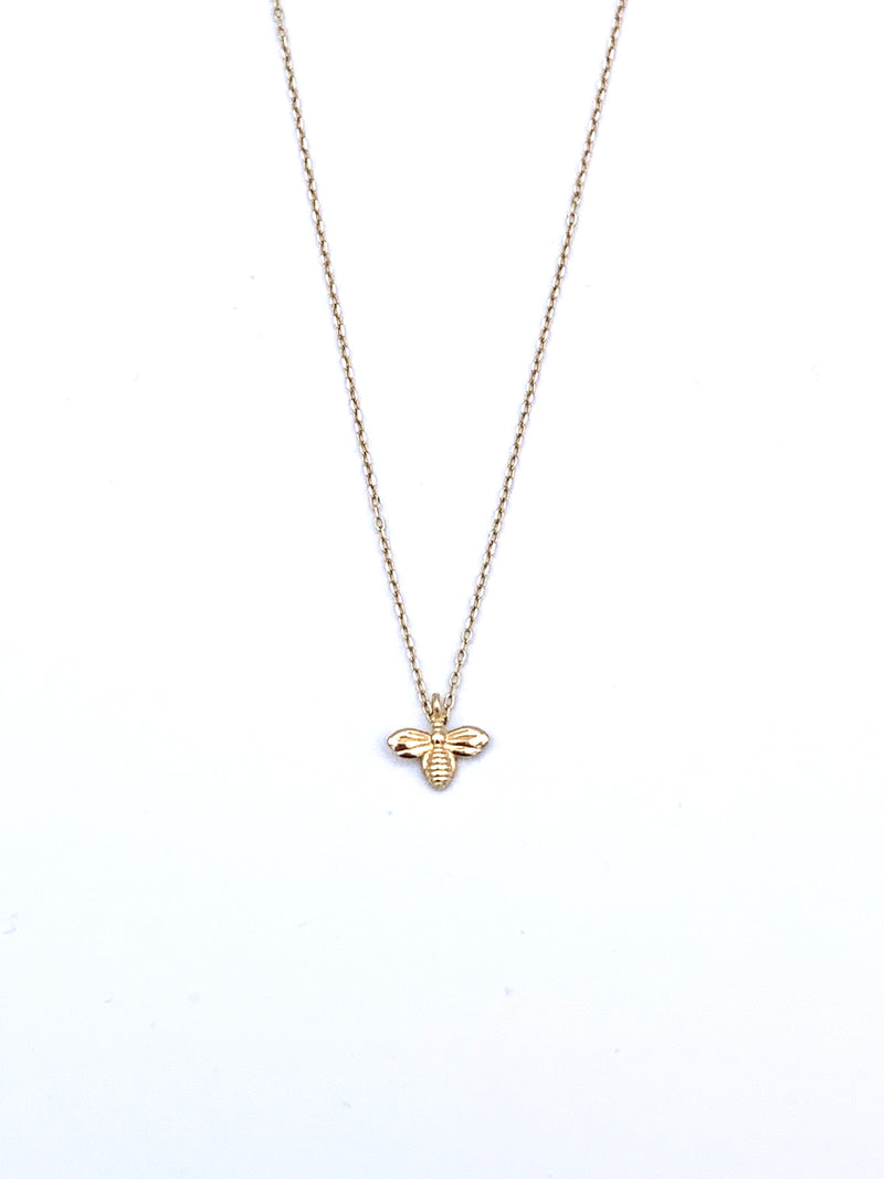14KYG Baby Bee Necklace