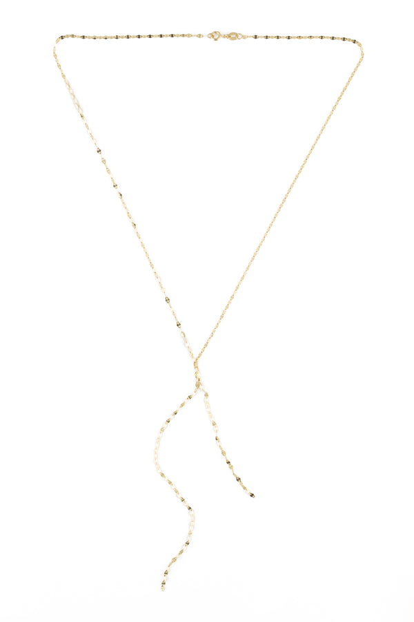 14KYG Sparkle Lariat Necklace