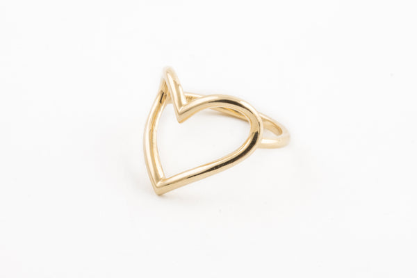 14KYG Open Heart Ring