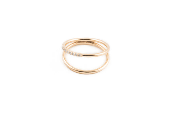 14K Diamond Midi Ring