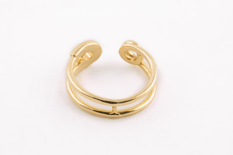 14KYG Safety Pin Ring