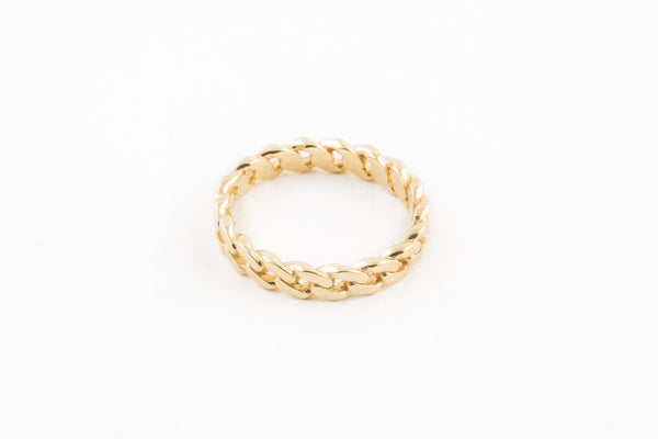 14K Chain Link Ring