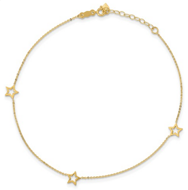 14KYG Star Light Anklet