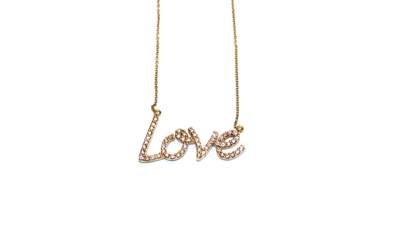 14KYG Diamond Love Necklace