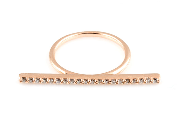 14K Bella Diamond Bar Ring