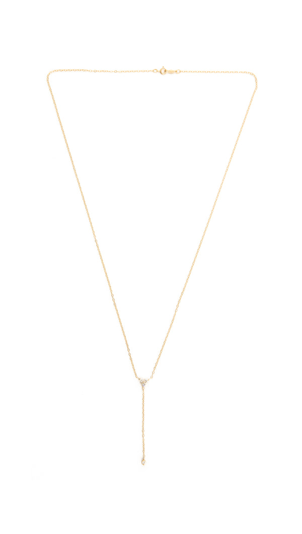 14KYG Diamond Lariat Drop Necklace