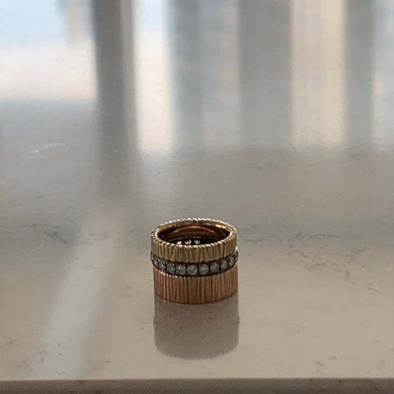 14K Hand Carved Simone Ring 7mm