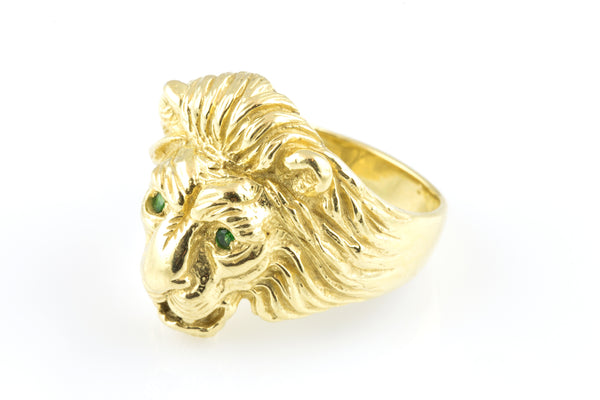 18KYG Nora Lion Ring