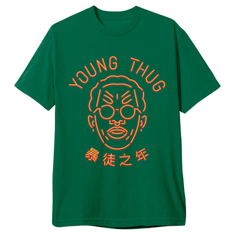 "YOUNG THUG ""NEON"" TEE GREEN"