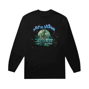 "GUNNA ""DO NOT DROWN"" LONG SLEEVE (BLACK)"