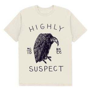 "HIGHLY SUSPECT ""VULTURE"" NATURAL TEE"