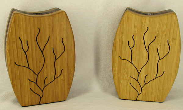 Bud Vase with Scroll Saw Tree Design