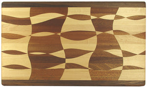 Cutting Board Wavy Checkered Design