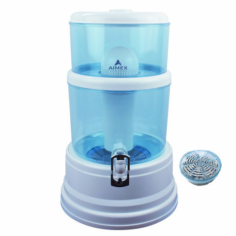 20 Litre Aimex Water Purifier With Maifan Stones White 8 Stage Filter