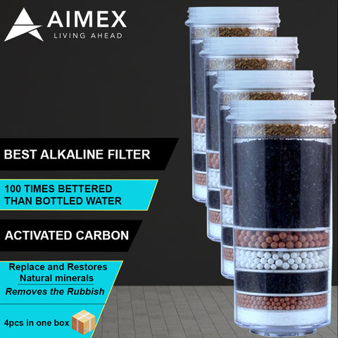 AIMEX WATER FILTER 8 STAGE PRESTIGE HEALTHY PURE BPA FREE SHIPPING x 4