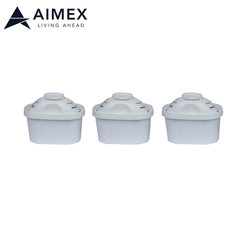 Aimex Water Filter Cartridge for Pitcher 3 pieces