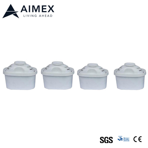 Aimex Water Filter Cartridge for Pitcher 4 pieces