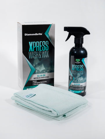 Aimex Automotive Xpress Wash & Wax Pack - 500ml + 2X Microfibre cloths - Made in UK