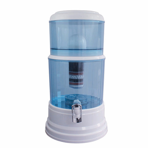 8 Stage Water Filter Ceramic Carbon Mineral Bench top Dispenser Purifier Pot 20L