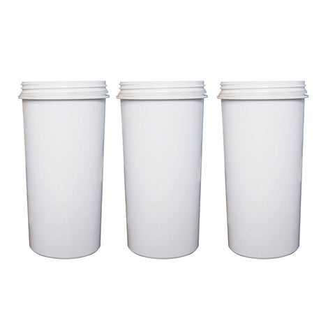 8 Stage White Awesome Water Filter Aimex KDF Charcoal Ceramic BPA Free x 3