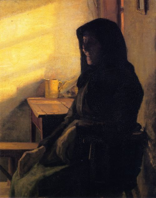 Anna Ancher - A Blind Woman in Her Room
