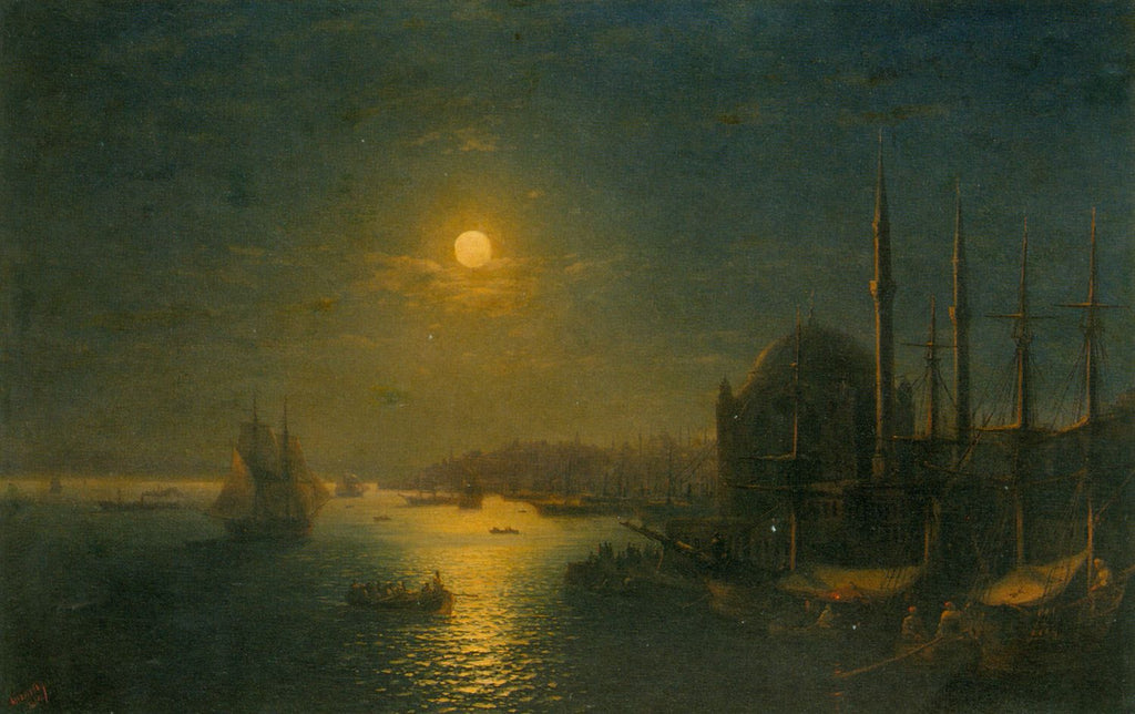 Ivan Aivazovsky - A Moonlit View of the Bosphorus