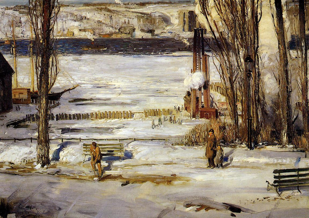 George Bellows - A Morning Snow, Hudson River