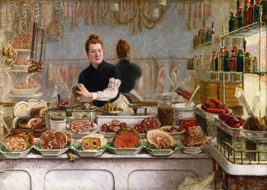 Edouard Jean Dambourgez - A Pork Butchers Shop