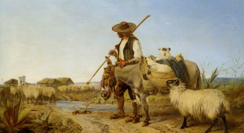 Richard Ansdell - A Spanish Shepherd