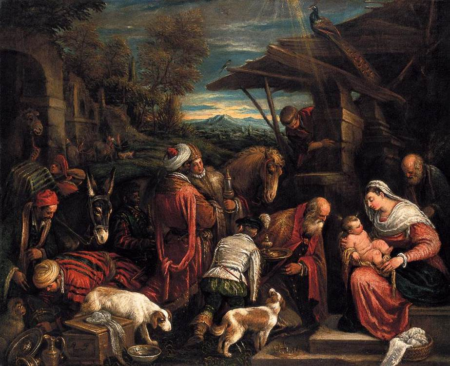 Francesco Bassano - Adoration of the Magi b