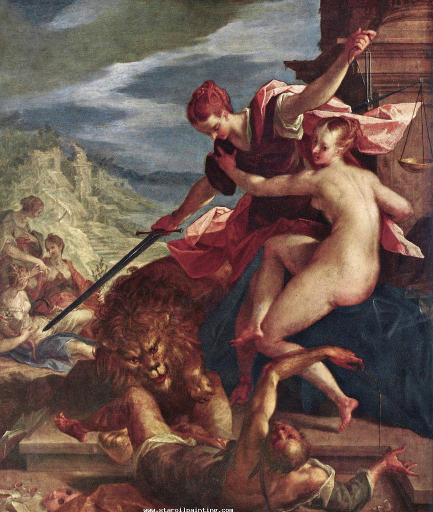 Hans von Aachen - Allegory-The-Triumph-of-Justice