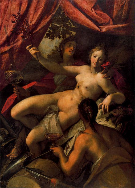 Hans von Aachen - Allegory-of-Peace-Art-and-Abundance