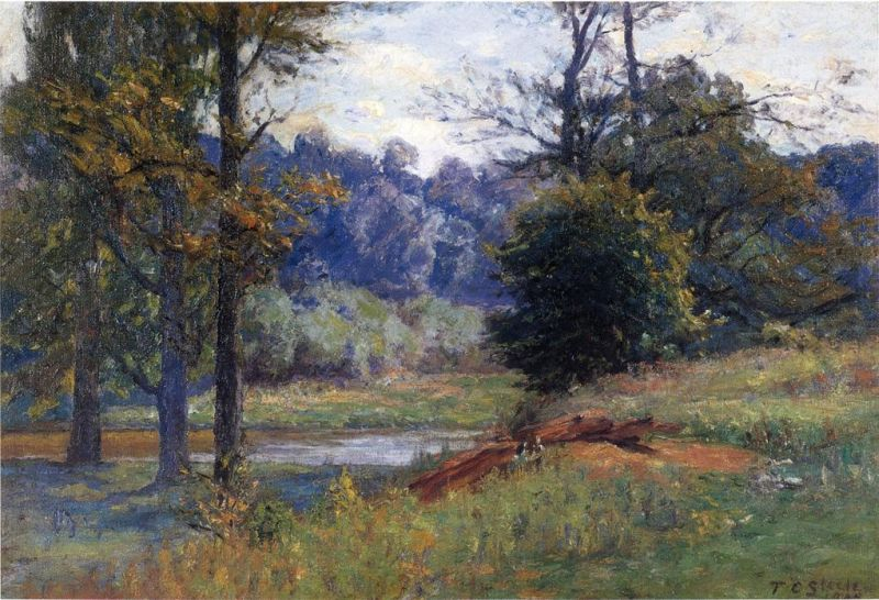 Theodore Clement Steele - Along the Creek
