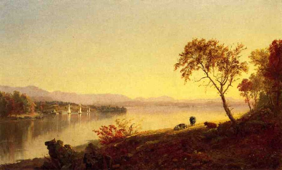 Jasper Francis Cropsey - Along the River