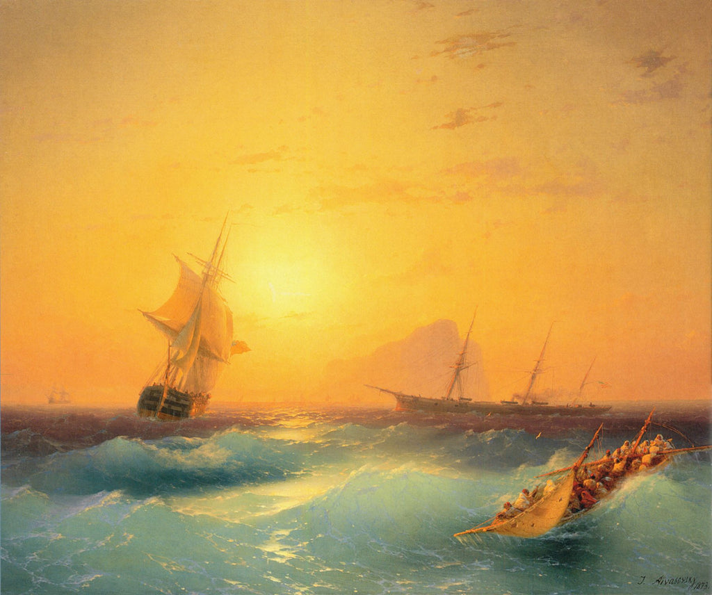Ivan Aivazovsky - American Shipping off the Rock of Gibraltar