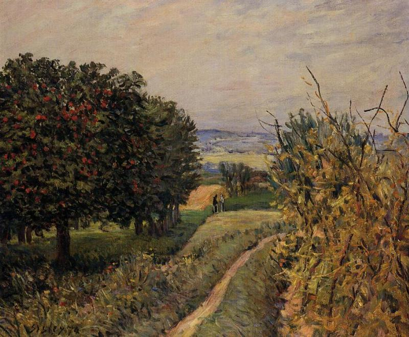 Alfred Sisley - Among the Vines near Louveciennes