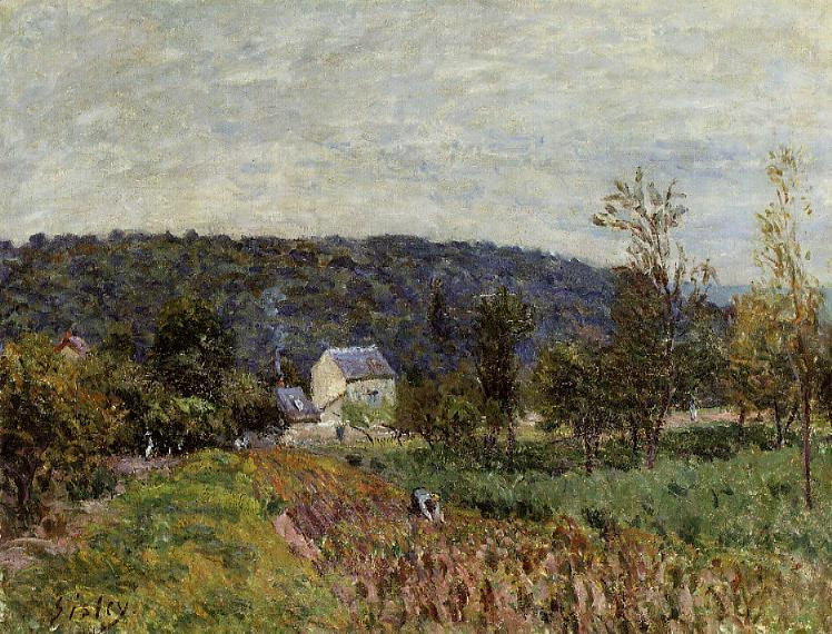 Alfred Sisley - An Autumn Evening near Paris