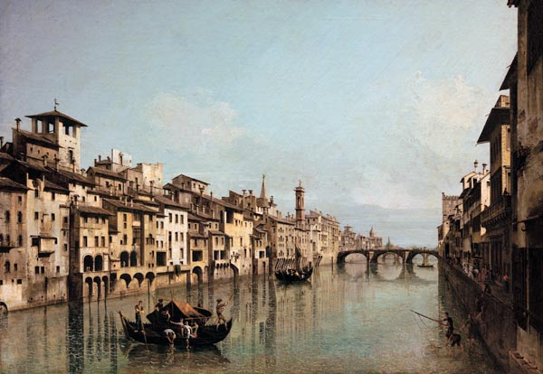 Bernardo Bellotto - Arno in Florence