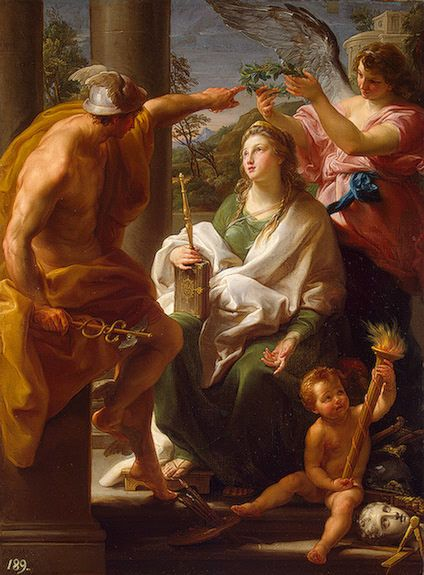 Pompeo Batoni - Mercury Crowning Philosophy, Mother of the Arts