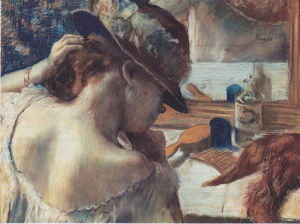 Edgar Degas - At the Mirror