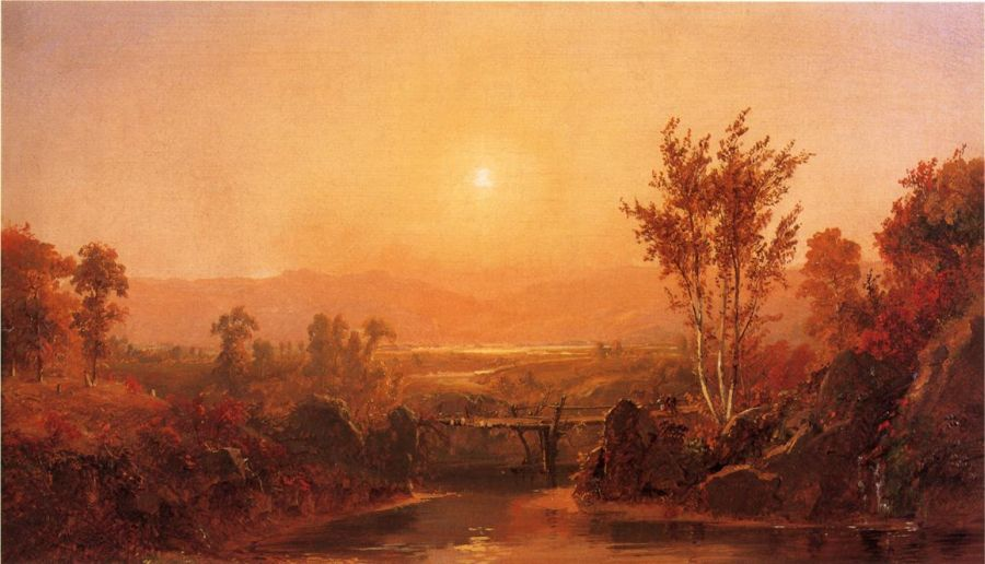 Jasper Francis Cropsey - Autumn Light on the Ramapo River