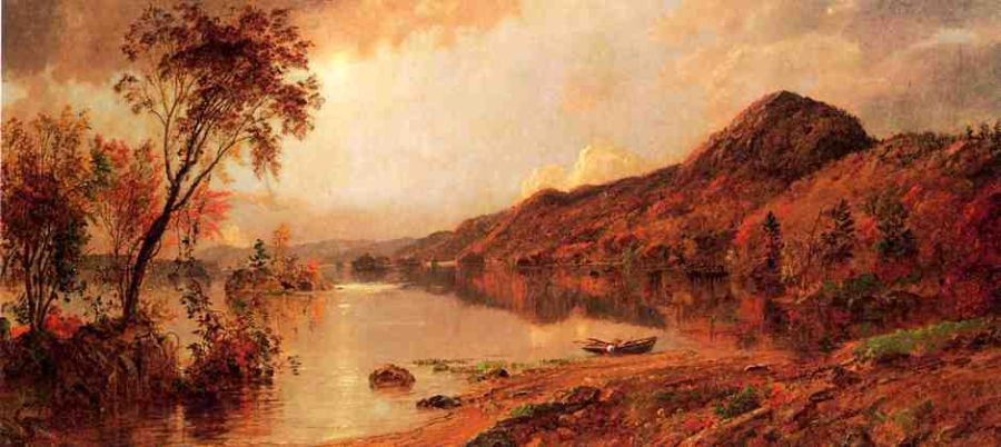Jasper Francis Cropsey - Autumn by the Lake v